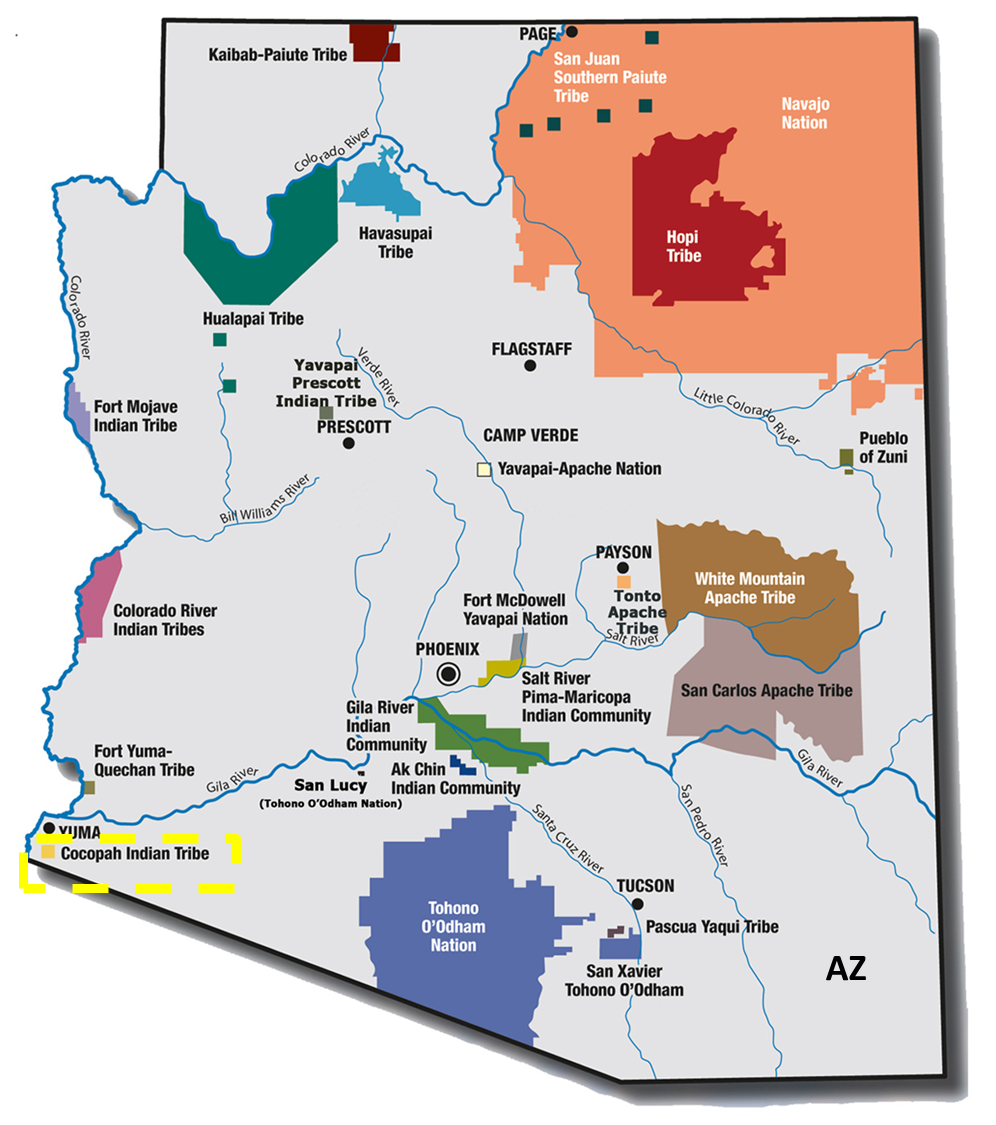 Arizona Map Indian Reservations