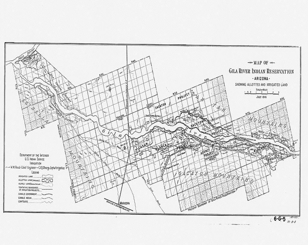 Gila River Indian Reservation. Source www.loc.gov