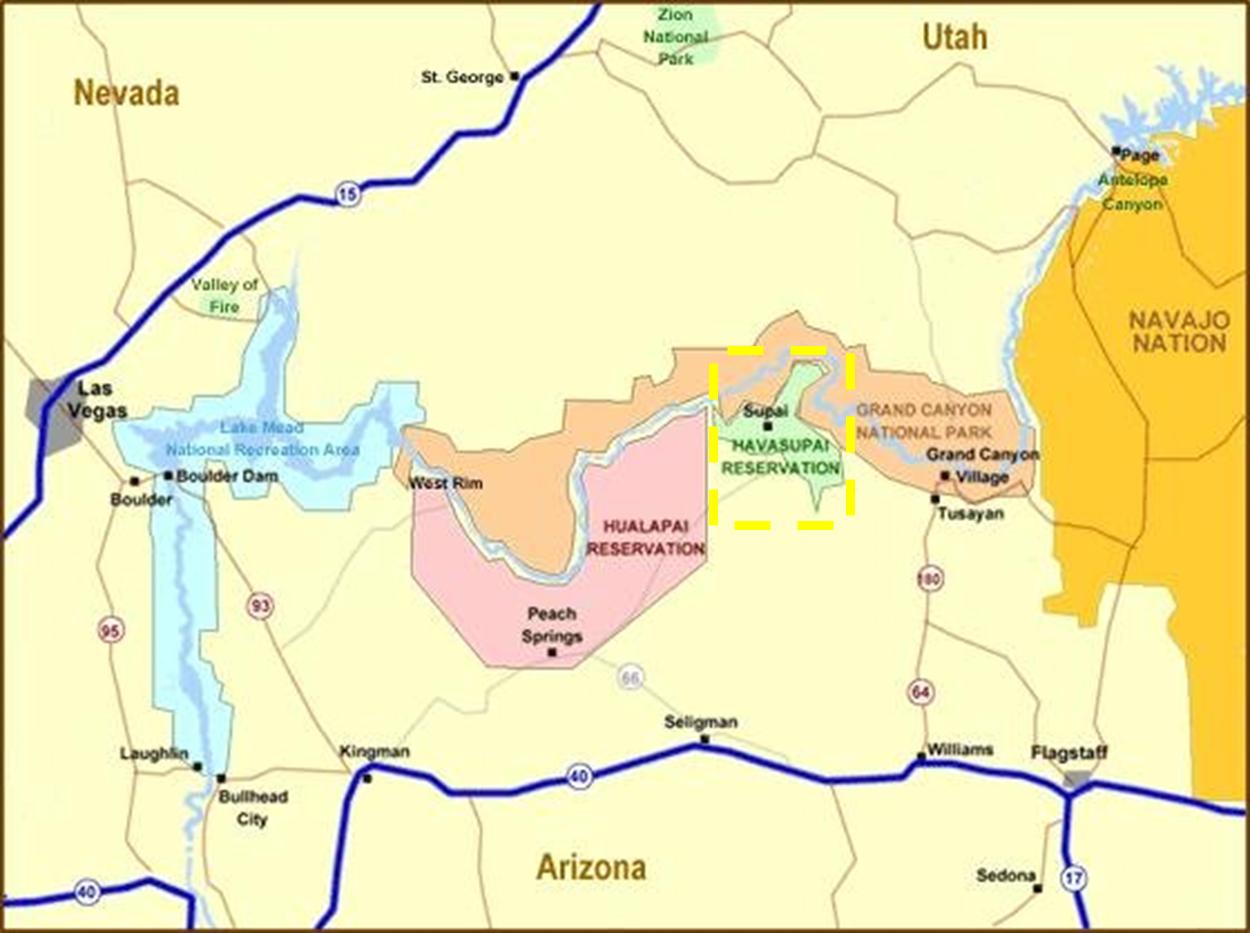 Supai Arizona Map.Havasupai Tribe Tribal Water Uses In The Colorado River Basin
