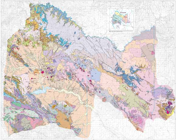 Geologic map of the San Carlos Apache Tribe. Source USGS